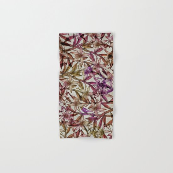 Orchid pattern Hand & Bath Towel