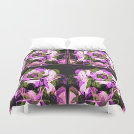 Roses in the booths... Duvet Cover
