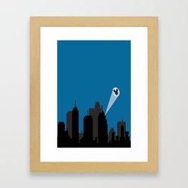 > s i g n Framed Art Print