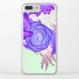 Violeta Florecer Clear iPhone Case