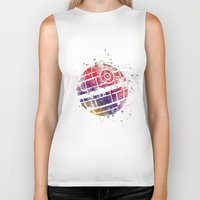 death star Biker Tanks featuring Star . Wars Death Star by Carma Zoe