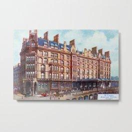 Vintage St Enoch railway station hotel Glasgow Metal Print