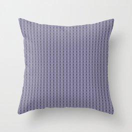 Black and Lavender Skulls Throw Pillow