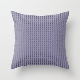 Black and Lavender Skulls Throw Pillow