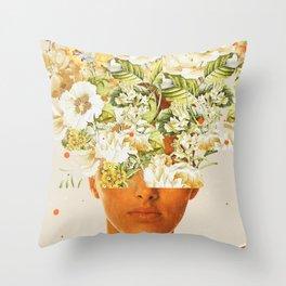 SuperFlowerHead Throw Pillow