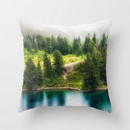 Alpine Lake, Eunice Lake, Mt. Rainier National Park Throw Pillow