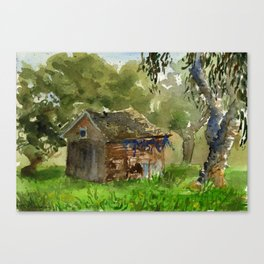 Ardenwood Shack Watercolor Canvas Print