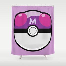 Master Pokeball Shower Curtain