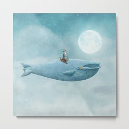 Whale Rider Metal Print