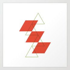 #540 Levels – Geometry Daily Art Print