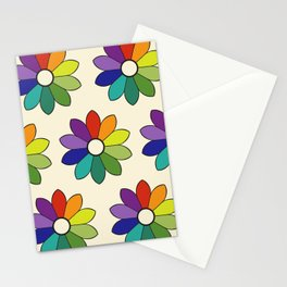 Flower pattern based on James Ward's Chromatic Circle (enhanced) Stationery Cards