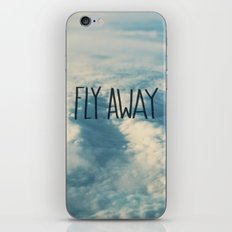 Fly Away x Clouds iPhone & iPod Skin