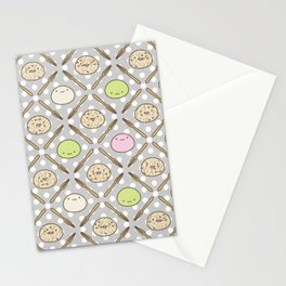 Mochi Kochi | Pattern in Grey Stationery Cards
