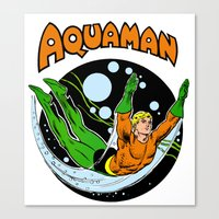 aquaman Canvas Prints featuring aquaman by Craig Bostick