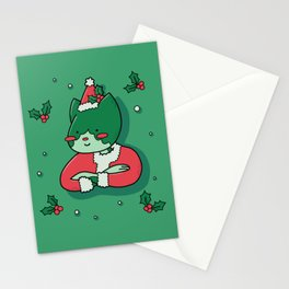 Santa Kitty Stationery Cards