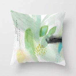 Summer Air Abstract Throw Pillow