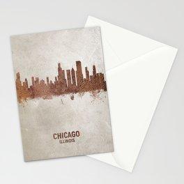 Chicago Illinois Rust Skyline Stationery Cards