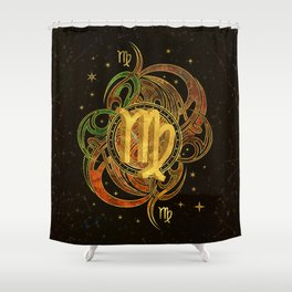 Virgo Zodiac Sign Earth element Shower Curtain