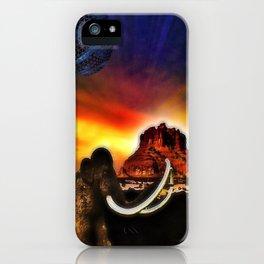 Prehistoric surrealism iPhone Case
