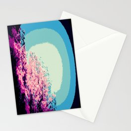 Mod trEes. Pink Purple Blue Stationery Cards