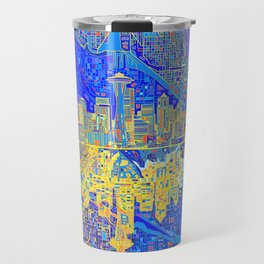 seattle city skyline Travel Mug