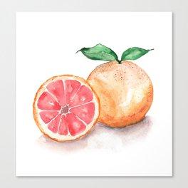 Watercolour Grapefruit Canvas Print