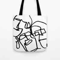 faces Tote Bags featuring Faces by kgkramer