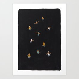 Black swim Art Print