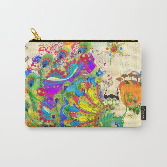The Peacock Dance Carry-All Pouch