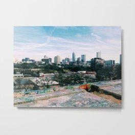 Austin City View Metal Print