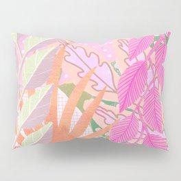 Modern Jungle Plants - Pink Green Purple Pillow Sham