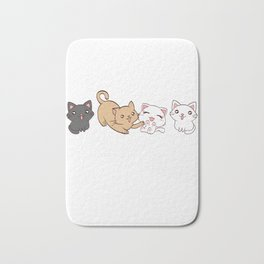 """Cat Moms Are The Best That's Why"" Pet Animals Kitten Design Kittie Feline Claw Claws T-shirt Design Bath Mat"