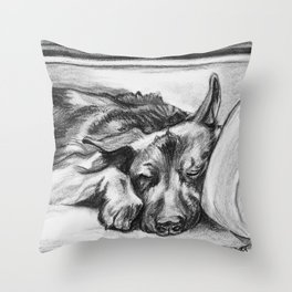 Shepherd Snooze Throw Pillow