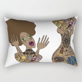ink my hole body Rectangular Pillow