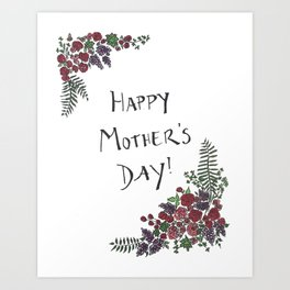 Mother's Day Card Art Print