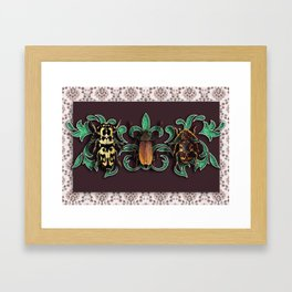 TRILOGY BEETLES II Framed Art Print
