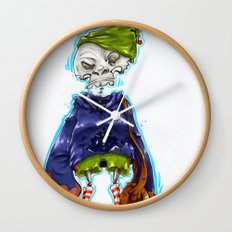 Skinny Skeleton Kid Wall Clock