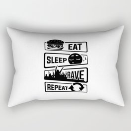 Eat Sleep Rave Repeat - Party Electro Music Event Rectangular Pillow