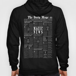 The Daily Mage Fantasy Newspaper II Hoody