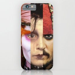Faces Johnny Depp iPhone Case