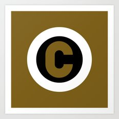 Copyright C with Black and Gold Art Print
