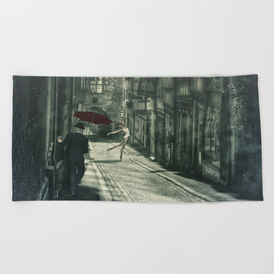 Mysterious Night Beach Towel