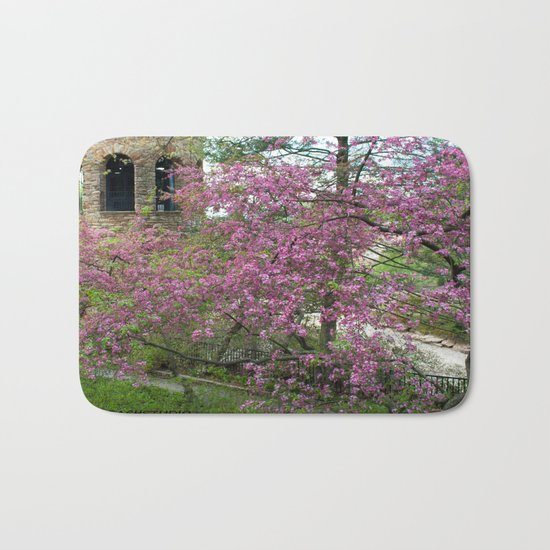Bell Tower in Spring Bath Mat