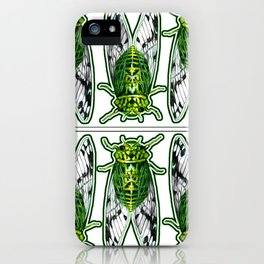 Emerald Cicadas iPhone Case