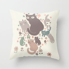 Cloweder Throw Pillow