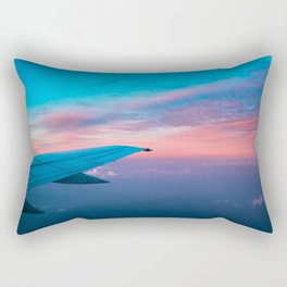Dawn At 35,000 Feet Rectangular Pillow