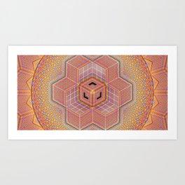 Flower of Life Tesseract Art Print