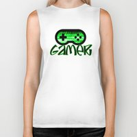 gamer Biker Tanks featuring Gamer Green by UMe Images