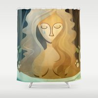 pagan Shower Curtains featuring Sad Pagan by Anniz