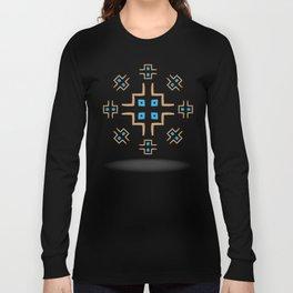 aztec cross mandala Long Sleeve T-shirt